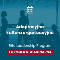 """Konferencja """"Adaptacyjna kultura organizacyjna""""  Formuła stacjonarna, 6 kwietnia 2022r. Gość specjalny: Dr Christine McCarthy"""